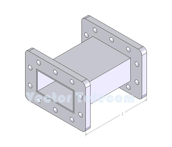 WR229 Straight Waveguide